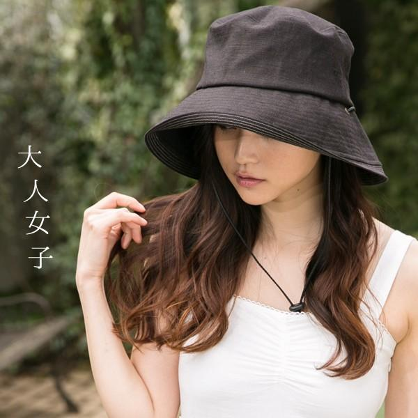 こんな帽子を探してた UV ハット 帽子 レディース 大きいサイズ 日よけ 折りたたみ つば広 自転車 飛ばない UVカット 春 夏 56-63cm 紐付きフレンチHAT queenhead 02