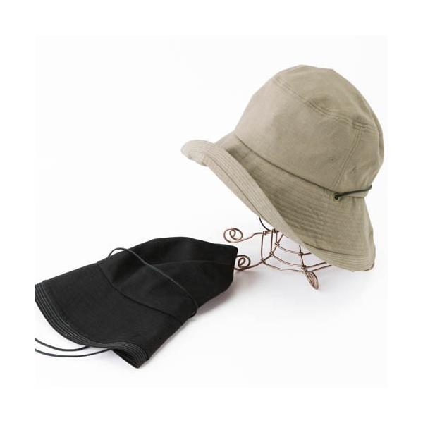 こんな帽子を探してた UV ハット 帽子 レディース 大きいサイズ 日よけ 折りたたみ つば広 自転車 飛ばない UVカット 春 夏 56-63cm 紐付きフレンチHAT queenhead 10
