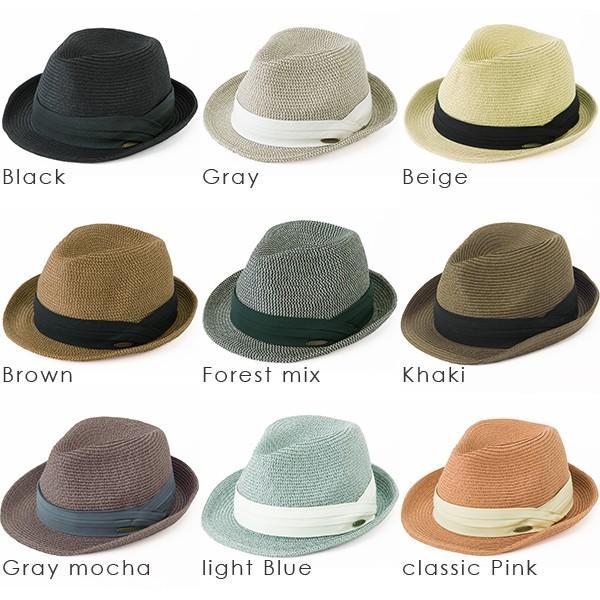 3月末より順次発送 折りたためる ストローハット 麦わら 帽子 中折れ 帽子 レディース メンズ 大きいサイズ ミックスペーパーソフトHAT|queenhead|20