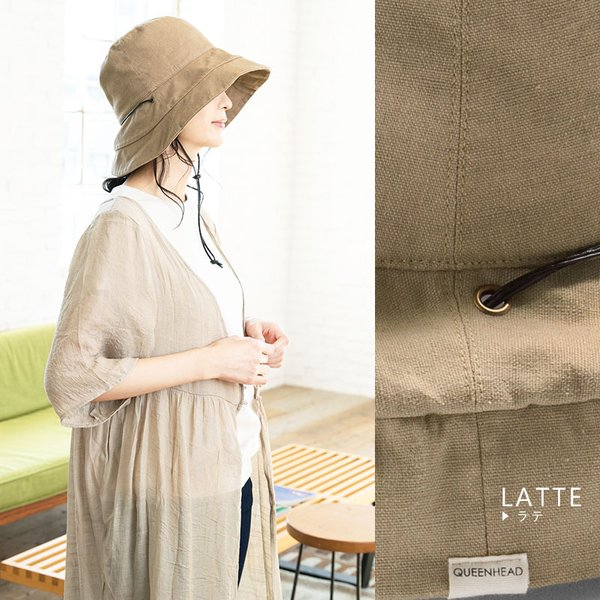1000円 セール 帽子 レディース 春 夏 折りたたみ 大きいサイズ 風に飛ばない UVカット 日よけ  紐付きブリムフレンチHAT 紫外線100%カット|queenhead|14