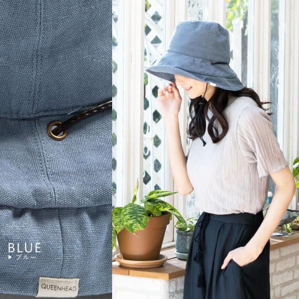 1000円 セール 帽子 レディース 春 夏 折りたたみ 大きいサイズ 風に飛ばない UVカット 日よけ  紐付きブリムフレンチHAT 紫外線100%カット|queenhead|15