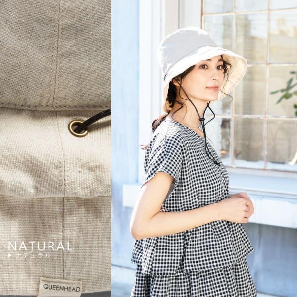 1000円 セール 帽子 レディース 春 夏 折りたたみ 大きいサイズ 風に飛ばない UVカット 日よけ  紐付きブリムフレンチHAT 紫外線100%カット|queenhead|17