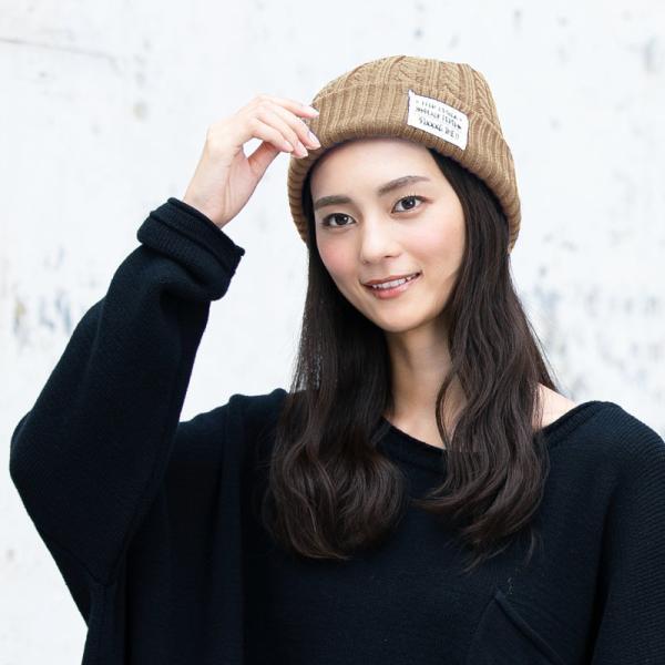 6時間限定700円 ニット帽 防寒対策 送料無料 帽子 レディース 大きいサイズ メンズ 秋冬  商品名 ケーブルタグ付きニット|queenhead|03