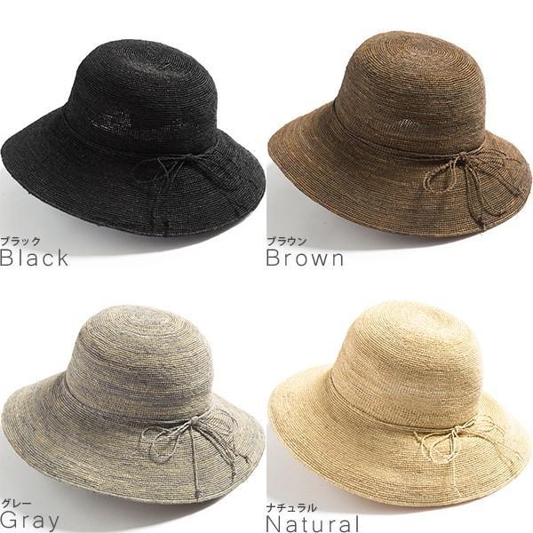 細編みラフィアHAT 帽子 レディース 夏 夏用 つば広 UV UV対策 麦わら 折りたたみ UVカット 56-63cm 商品名 3サイズ細編みラフィア100%HAT|queenhead|20