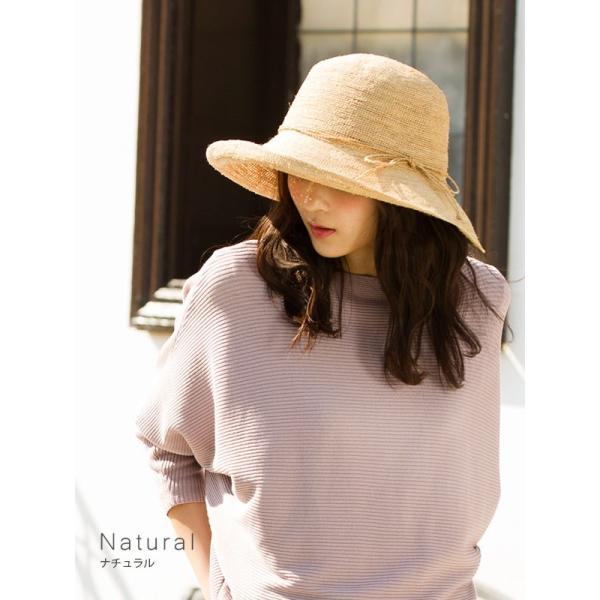 細編みラフィアHAT 帽子 レディース 夏 夏用 つば広 UV UV対策 麦わら 折りたたみ UVカット 56-63cm 商品名 3サイズ細編みラフィア100%HAT|queenhead|06