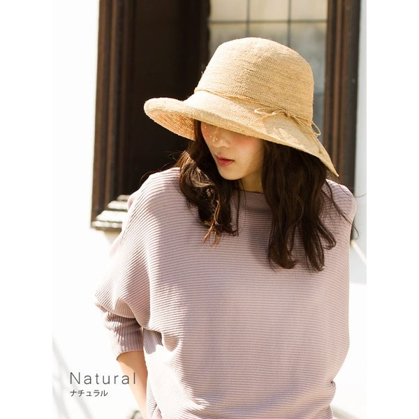 50%0FF 細編みラフィアHAT 帽子 レディース 夏 夏用 つば広 UV UV対策 麦わら 折りたたみ UVカット 56-63cm 商品名 3サイズ細編みラフィア100%HAT|queenhead|06