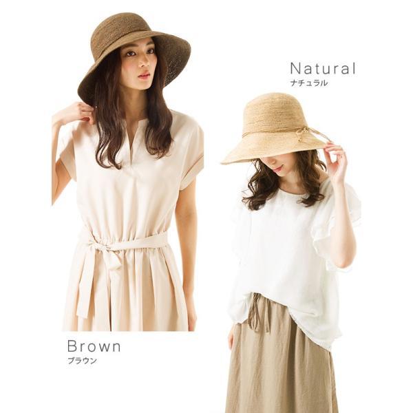 細編みラフィアHAT 帽子 レディース 夏 夏用 つば広 UV UV対策 麦わら 折りたたみ UVカット 56-63cm 商品名 3サイズ細編みラフィア100%HAT|queenhead|07