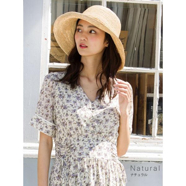 細編みラフィアHAT 帽子 レディース 夏 夏用 つば広 UV UV対策 麦わら 折りたたみ UVカット 56-63cm 商品名 3サイズ細編みラフィア100%HAT|queenhead|08