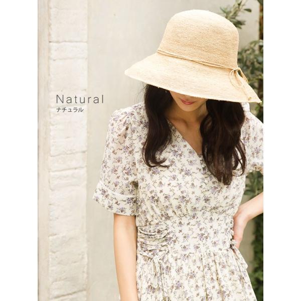 細編みラフィアHAT 帽子 レディース 夏 夏用 つば広 UV UV対策 麦わら 折りたたみ UVカット 56-63cm 商品名 3サイズ細編みラフィア100%HAT|queenhead|09