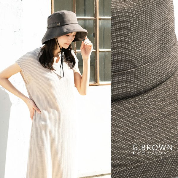 帽子 レディース 夏 夏物 UV つば広 セール 1000円 紫外線100%カット 自転車 ブリーズフレンチHAT2018  折りたたみ 大きいサイズ UVカット 飛ばない|queenhead|19