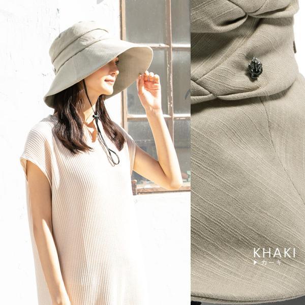 紫外線100%カット  帽子 レディース 大きいサイズ つば広 自転車 飛ばない あご紐着脱可能 56-63cm 紐付きエレガントUVハット SALE セール|queenhead|13