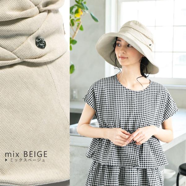 紫外線100%カット  帽子 レディース 大きいサイズ つば広 自転車 飛ばない あご紐着脱可能 56-63cm 紐付きエレガントUVハット SALE セール|queenhead|16