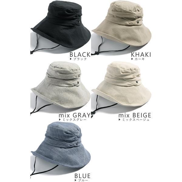 紫外線100%カット  帽子 レディース 大きいサイズ つば広 自転車 飛ばない あご紐着脱可能 56-63cm 紐付きエレガントUVハット SALE セール|queenhead|20