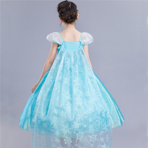 a78f6e88f2cde ... W167 ディズニープリンセス アナ雪 エルサ キッズ子ども お姫様 コスチューム エルサドレス 子供用ドレス キッズドレス