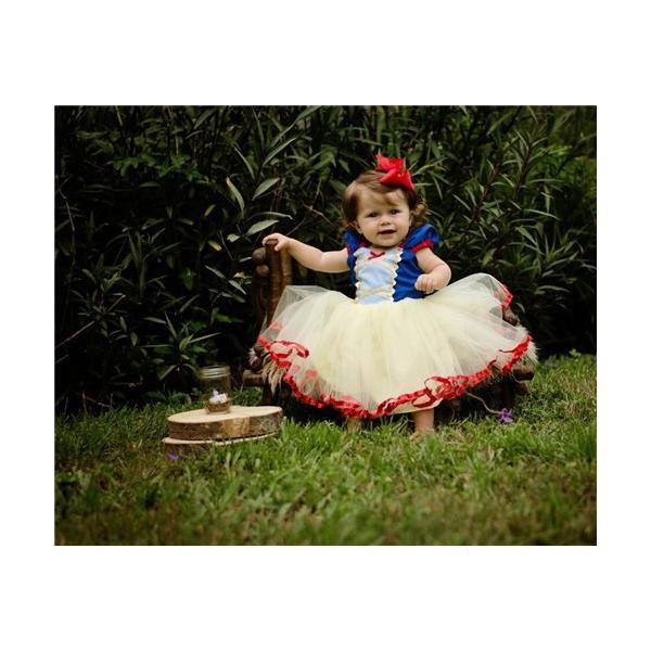 eaa9cd01a8607 ... W2 ディズニープリンセス 子供用ドレス キッズ白雪姫 ドレス ワンピース なりきりワンピース プリンセスドレス 子どもドレス