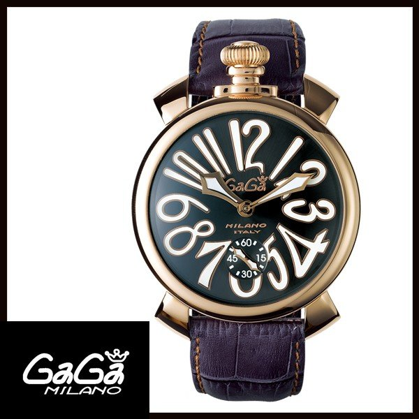 5011.07S GAGA MILANO ガガミラノ  MANUALE 48MM  マニュアーレ 48mm GOLD PLATED メンズ腕時計 国内正規品 送料無料  |quelleheure-1