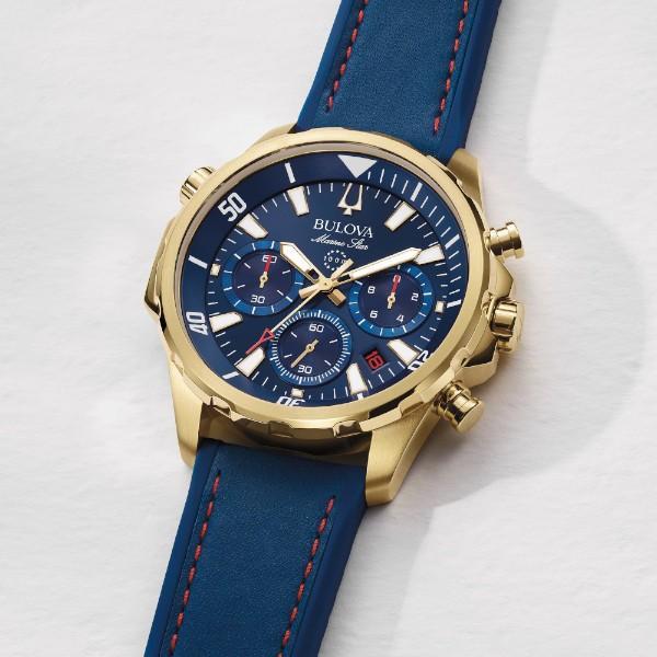 正規品 BULOVA ブローバ Marine Star クオーツ メンズ腕時計 送料無料 97B168|quelleheure-1|05