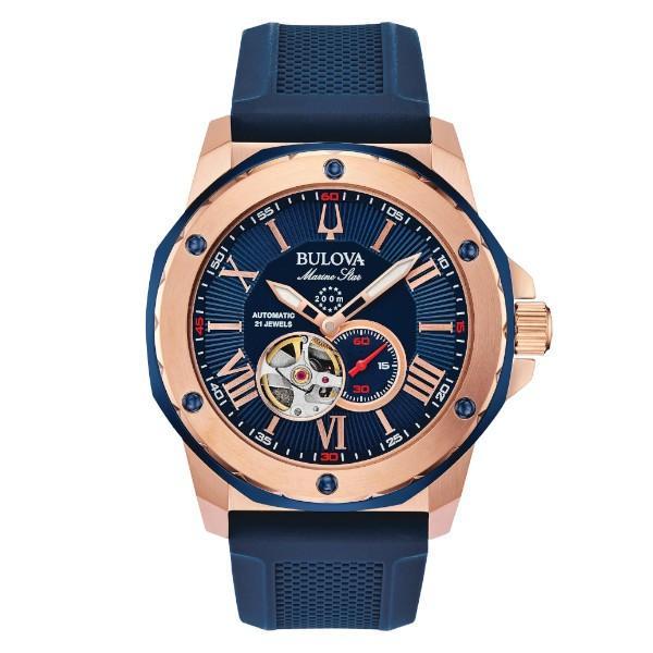 正規品 BULOVA ブローバ Marine Star 自動巻き メンズ腕時計 送料無料 98A227|quelleheure-1|02