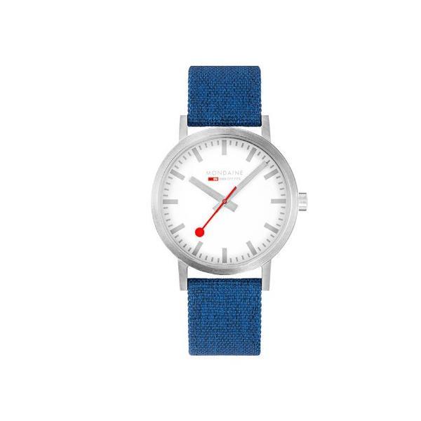 正規品 MONDAINE モンディーン クォーツ クラシック シーズナル 40mm ブルー メンズ腕時計 送料無料 A6603036017SBD|quelleheure-1|02