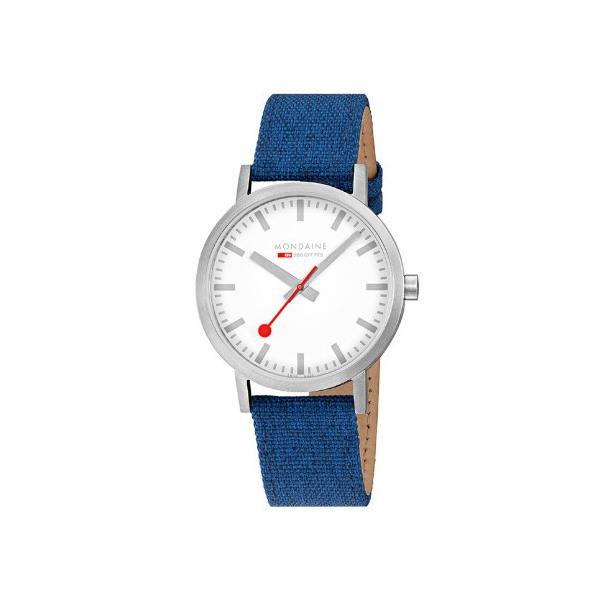 正規品 MONDAINE モンディーン クォーツ クラシック シーズナル 40mm ブルー メンズ腕時計 送料無料 A6603036017SBD|quelleheure-1|03