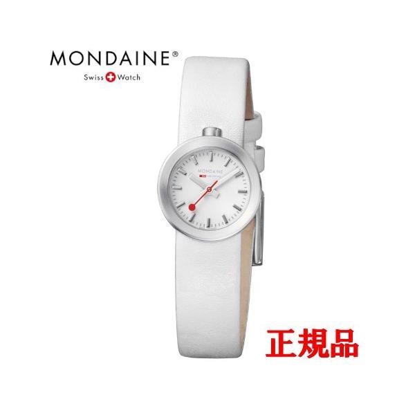 正規品 MONDAINE モンディーン クォーツ アウラ ホワイト ユニセックス腕時計 送料無料 A6663032416SBAA|quelleheure-1