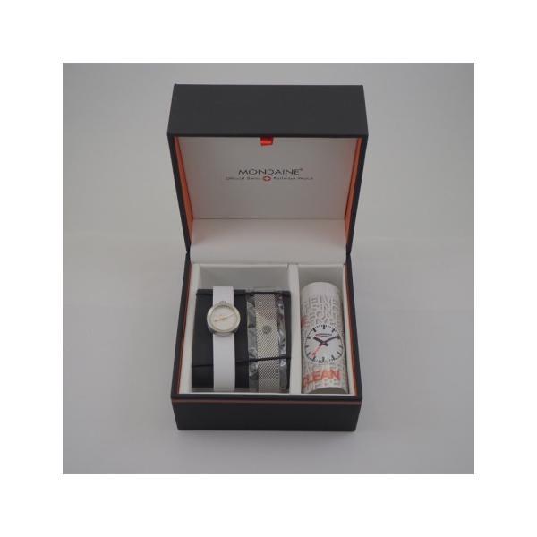 正規品 MONDAINE モンディーン クォーツ アウラ ホワイト ユニセックス腕時計 送料無料 A6663032416SBAA|quelleheure-1|06