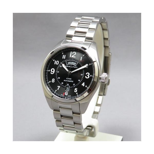 24回払いまで無金利 H70505133 HAMILTON ハミルトン カーキ フィールド デイデイト オート メンズ腕時計 国内正規品  送料無料  |quelleheure-1|02