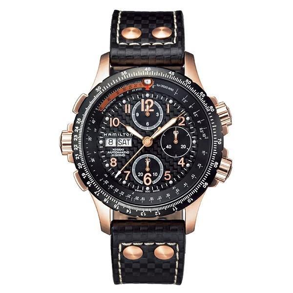 Hamilton ハミルトン Khaki カーキ アビエーション X-Wind X-ウィンド クロノグラフ 自動巻き 機械式 メンズ腕時計 革ベルト H77696793  |quelleheure-1|02