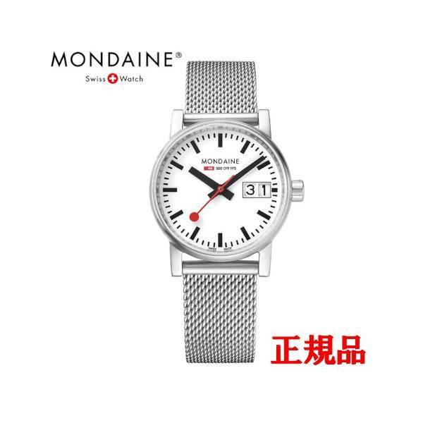 正規品 MONDAINE モンディーン クォーツ エヴォ2 ビッグデイト 30mm メッシュ レディース腕時計 送料無料 MSE30210SM quelleheure-1