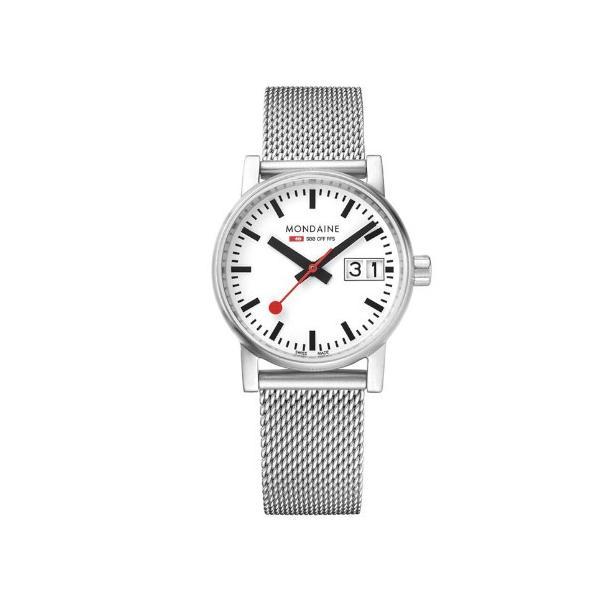 正規品 MONDAINE モンディーン クォーツ エヴォ2 ビッグデイト 30mm メッシュ レディース腕時計 送料無料 MSE30210SM quelleheure-1 02