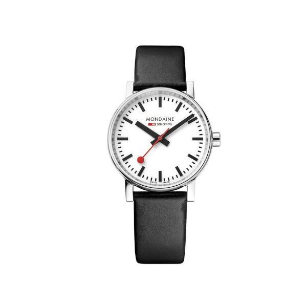 正規品 MONDAINE モンディーン クォーツ エヴォ2 35mm ブラック メンズ腕時計 送料無料 MSE35110LB|quelleheure-1|02