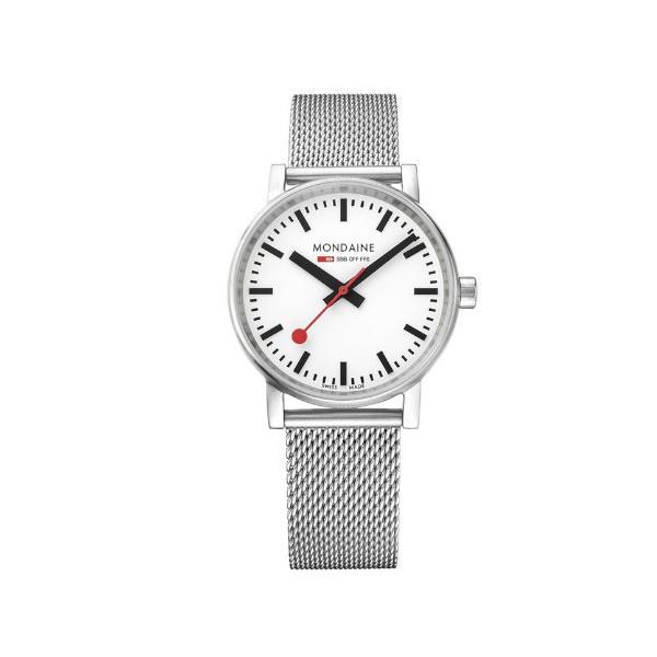 正規品 MONDAINE モンディーン クォーツ エヴォ2 35mm メッシュ メンズ腕時計 送料無料 MSE35110SM|quelleheure-1|02