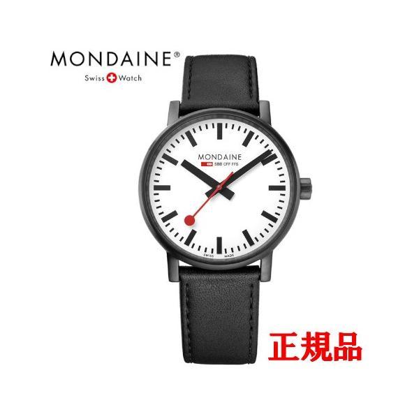 正規品 MONDAINE モンディーン クォーツ エヴォ2 40mm ホワイトxブラックステッチ メンズ腕時計 送料無料 MSE40111LB quelleheure-1