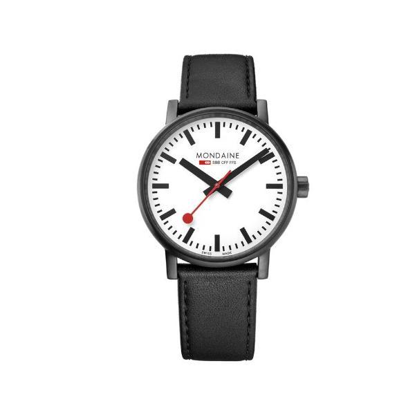 正規品 MONDAINE モンディーン クォーツ エヴォ2 40mm ホワイトxブラックステッチ メンズ腕時計 送料無料 MSE40111LB quelleheure-1 02
