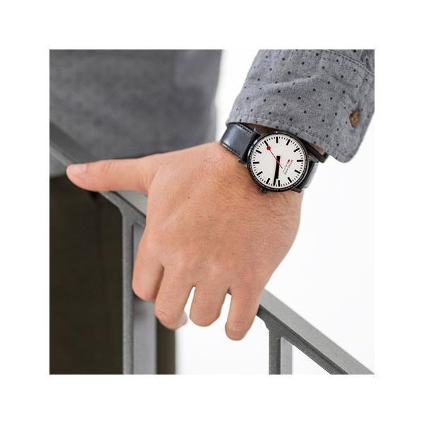 正規品 MONDAINE モンディーン クォーツ エヴォ2 40mm ホワイトxブラックステッチ メンズ腕時計 送料無料 MSE40111LB quelleheure-1 03