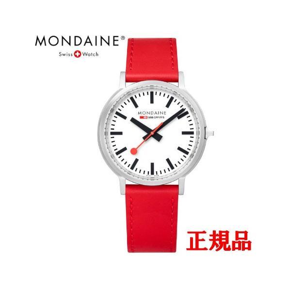 正規品 MONDAINE モンディーン クォーツ stop2go 2017 レッド メンズ腕時計 送料無料 MST4101BLC quelleheure-1