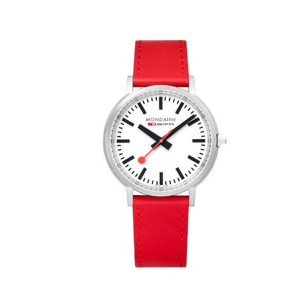 正規品 MONDAINE モンディーン クォーツ stop2go 2017 レッド メンズ腕時計 送料無料 MST4101BLC quelleheure-1 02