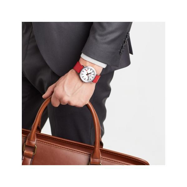 正規品 MONDAINE モンディーン クォーツ stop2go 2017 レッド メンズ腕時計 送料無料 MST4101BLC quelleheure-1 03