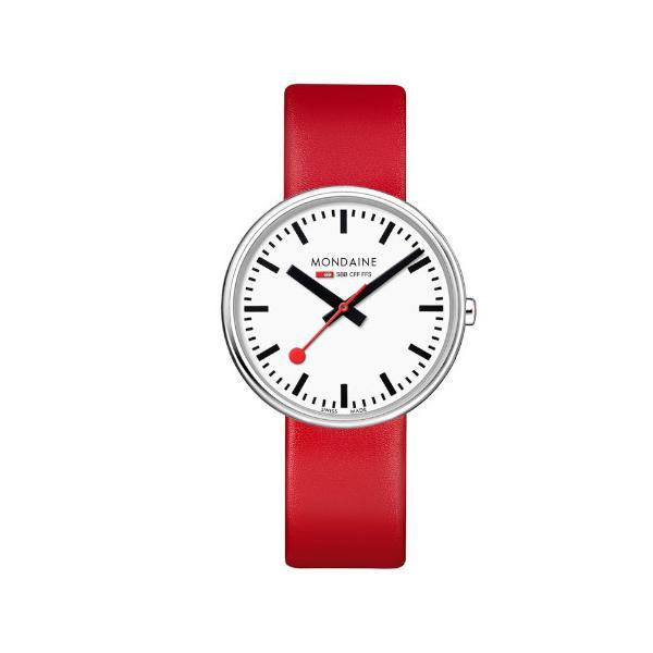 正規品 MONDAINE モンディーン クォーツ ミニジャイアント バックライト 35mm レッド ユニセックス腕時計 送料無料 MSX3511BLC|quelleheure-1|02