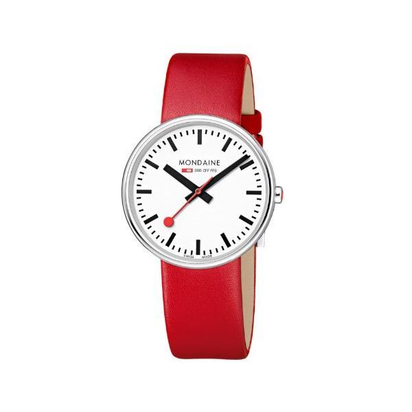 正規品 MONDAINE モンディーン クォーツ ミニジャイアント バックライト 35mm レッド ユニセックス腕時計 送料無料 MSX3511BLC|quelleheure-1|03