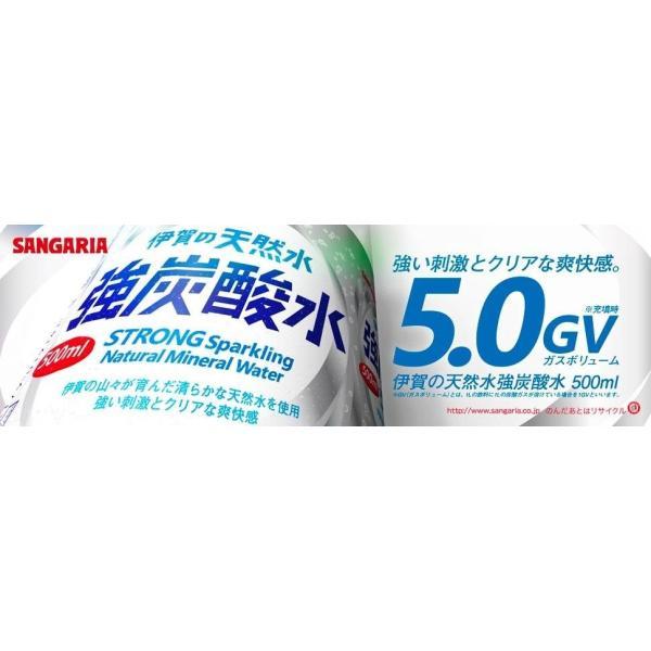 サンガリア 伊賀の天然水 強炭酸水 500ml×24本 PET ペットボトル スパークリング quickfactory-annex 02