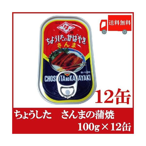 ちょうした さんまの蒲焼 缶詰 100g×12缶 送料無料