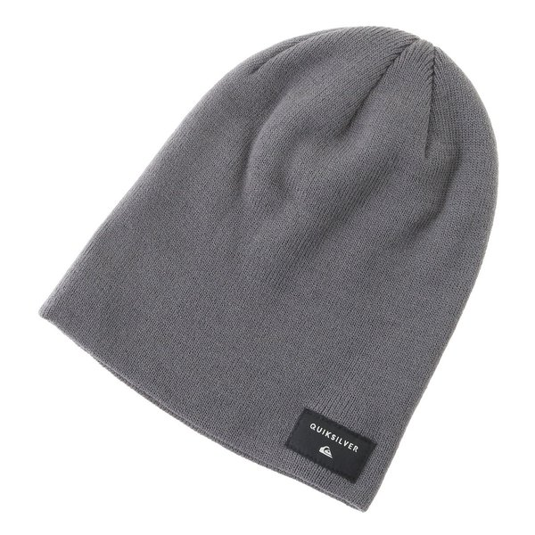 DARK CHARCOAL HEATHER QUIKSILVER CUSHY SLOUCH BEANIE HAT EQYHA03100