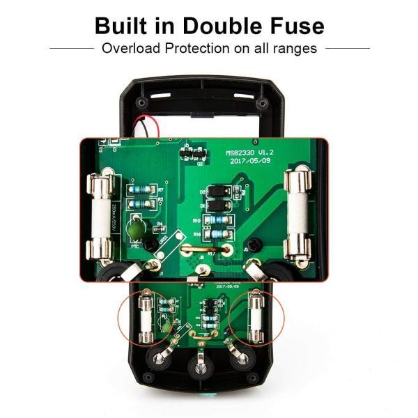 Crenova デジタルマルチメーター 電圧・電流・周波数・抵抗・導通測定テスター|quo-shop|02