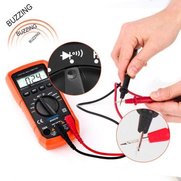 Crenova デジタルマルチメーター 電圧・電流・周波数・抵抗・導通測定テスター|quo-shop|07