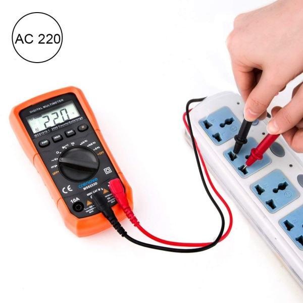 Crenova デジタルマルチメーター 電圧・電流・周波数・抵抗・導通測定テスター|quo-shop|08