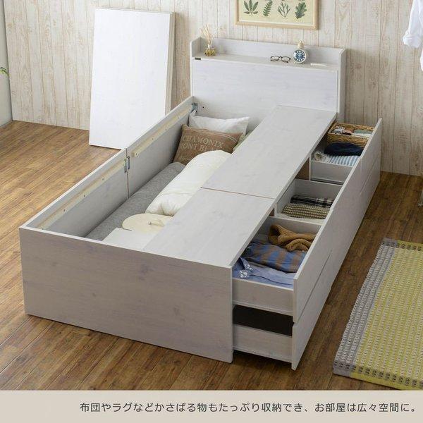 ベッド 収納付き  シングル 大容量 安い フレーム 格安 収納 サイズ 収納付きベッド シングルベッド フレームのみ 木製 おしゃれ 子供部屋 子供 通気|quoli|02