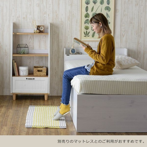 ベッド 収納付き  シングル 大容量 安い フレーム 格安 収納 サイズ 収納付きベッド シングルベッド フレームのみ 木製 おしゃれ 子供部屋 子供 通気|quoli|05