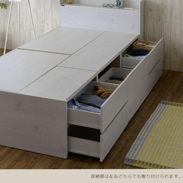 ベッド 収納付き  シングル 大容量 安い フレーム 格安 収納 サイズ 収納付きベッド シングルベッド フレームのみ 木製 おしゃれ 子供部屋 子供 通気|quoli|09