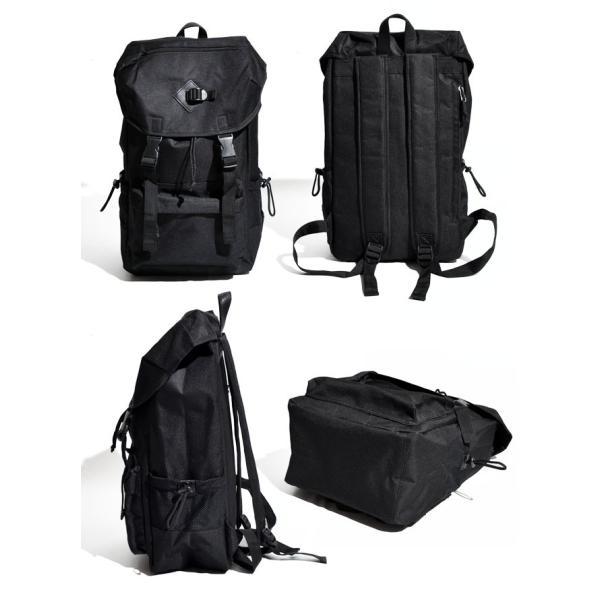 62eecd1bb0b0 ... リュックサック デイパック メンズ バックパック 鞄 カバン ナイロン製 フラップ カジュアル アウトドア 紺 黒 迷彩 ...